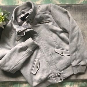 LIKE NEW- Sz XL Gray Polyester Biker Jacket